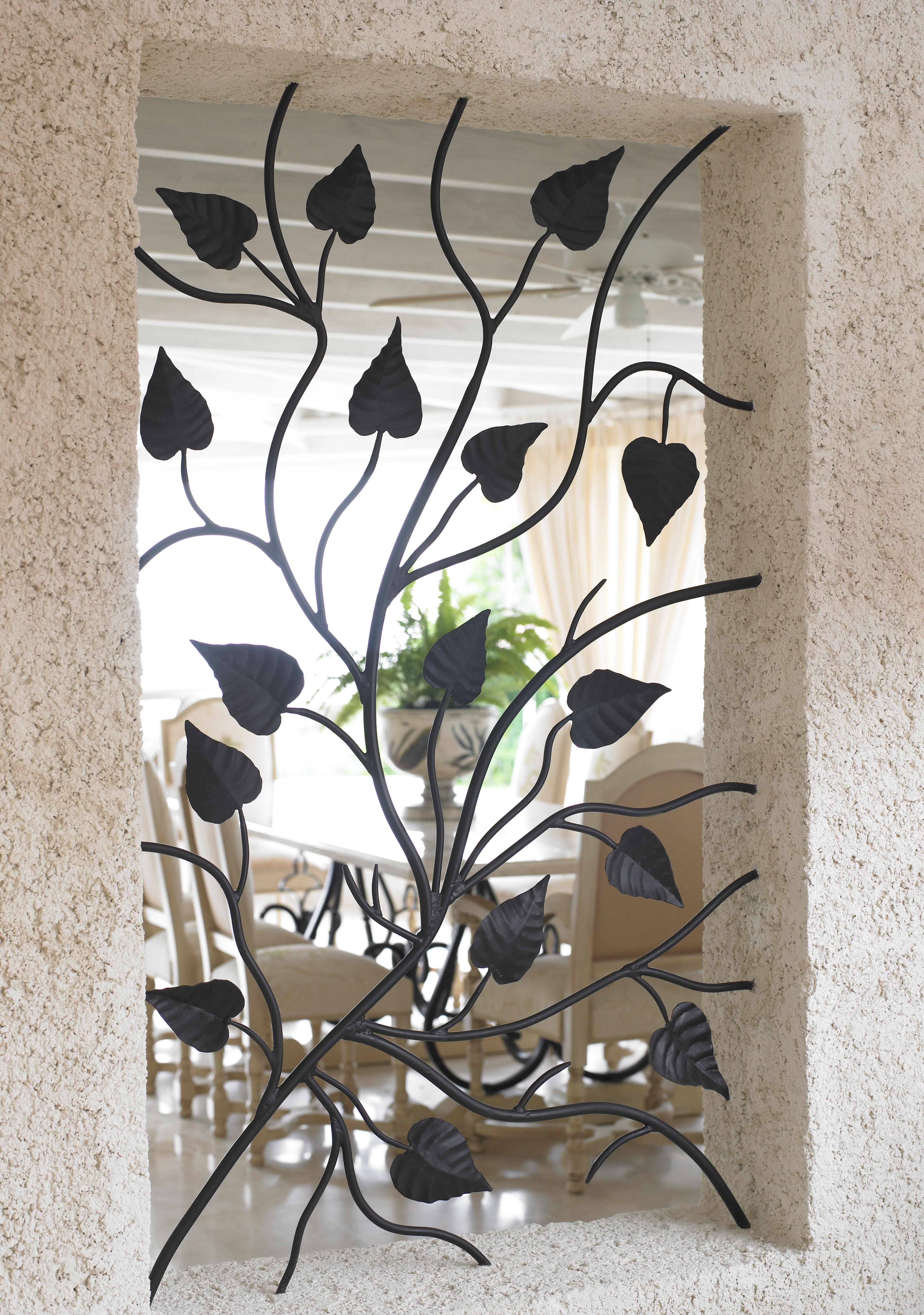 Mielle wrought iron window aperture panel jenny blanc for Window design iron
