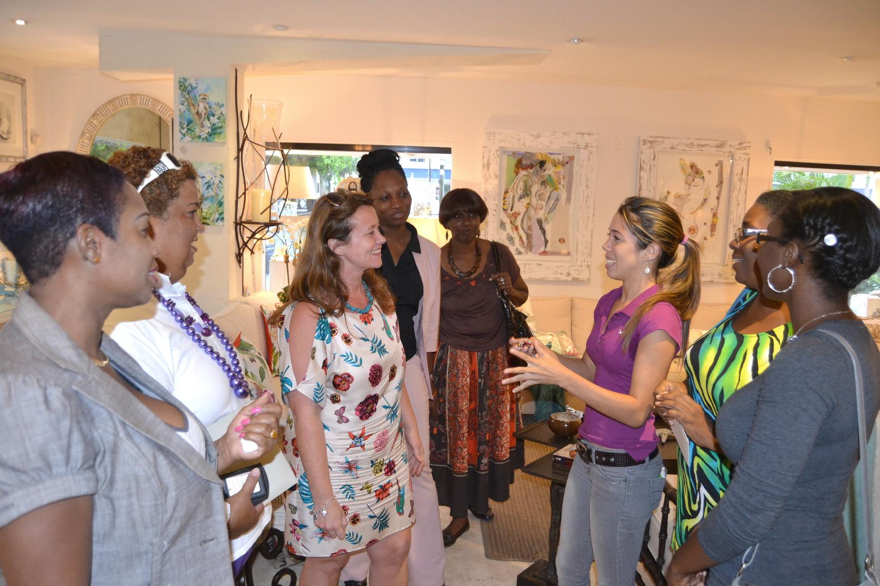 Emma Blanc talks to students