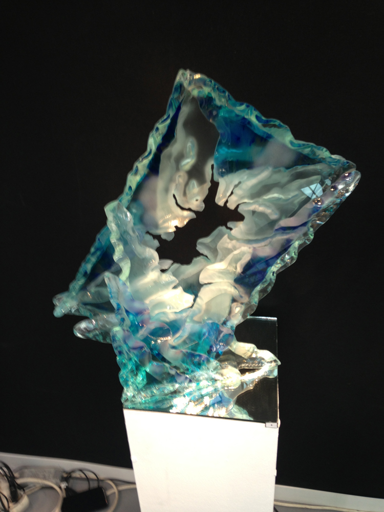 Glass sculptures, inspired by the marine life of the Pacific Ocean.