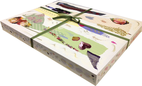 Hand Decorated Box containing 6 original artworks
