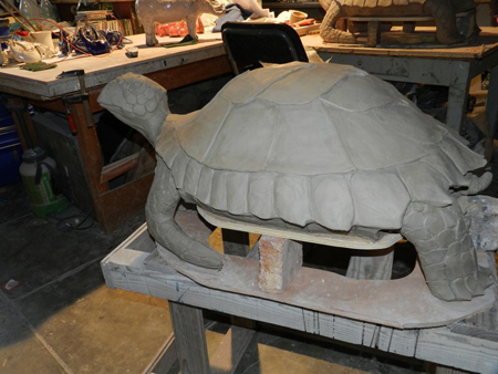 Turtle before firing