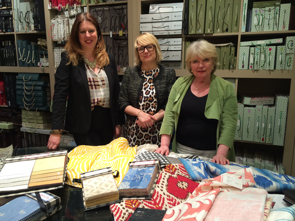 Sam Walsh - Sales Manager & Laurie Whittaker - Account Manager  with Chrissie - Showroom Director at Jenny Blanc