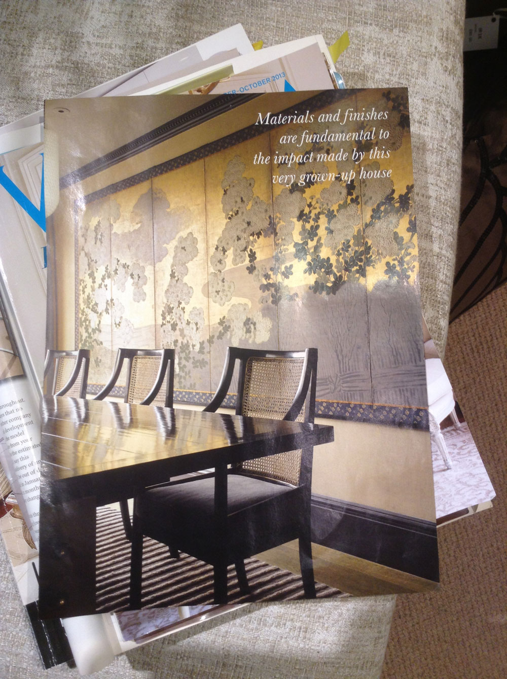 Her latest mood board started with a tear sheet from House & Garden.