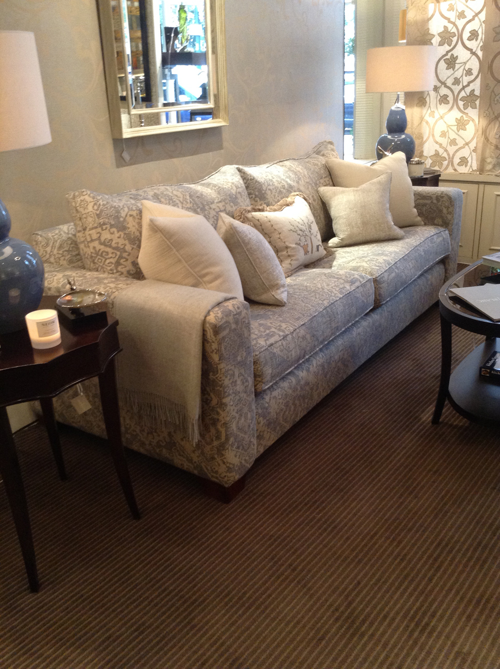 Try out the furniture with the showroom team's helpful guidance to find just the right piece. This is the luxurious Jenny Blanc Grand sofa