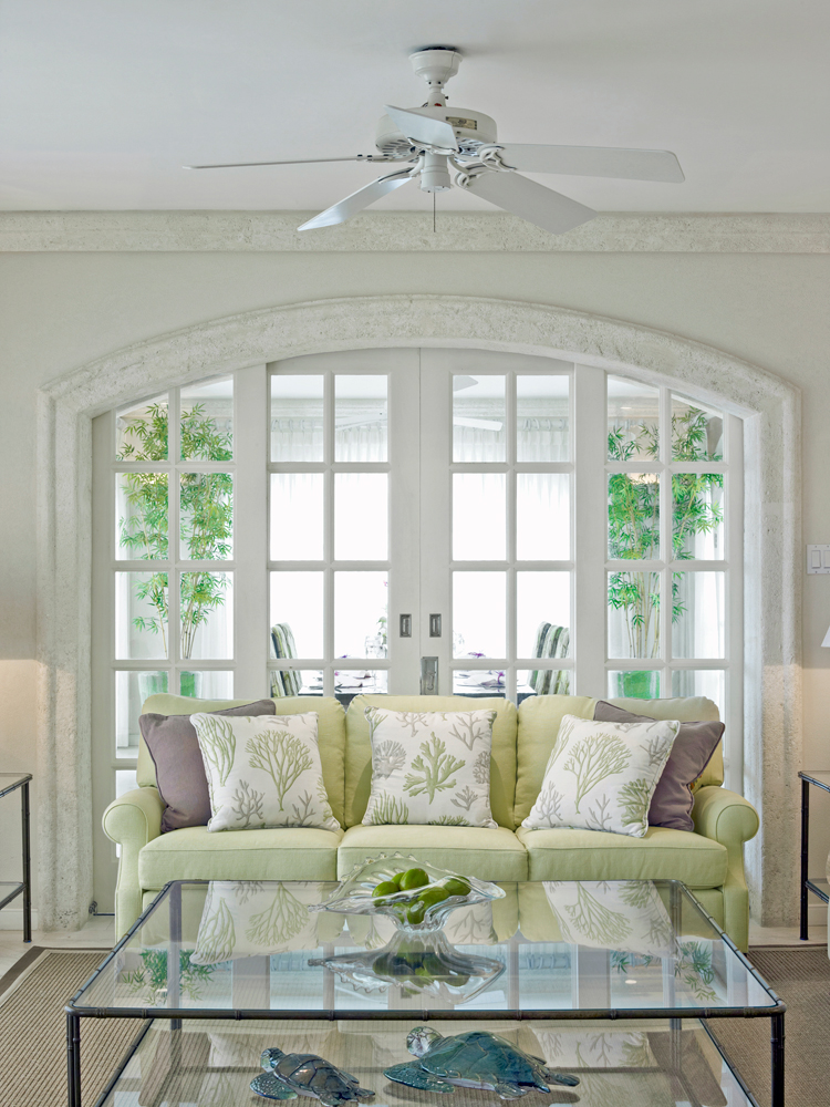 A perfectly balanced interior created by Jenny Blanc for a client back home in Barbados
