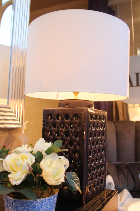 Heather is a trending colour this season, and this lamp works as a staple in many settings.