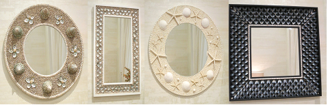 Magic of Mirrors Collection of Shell Mirrors