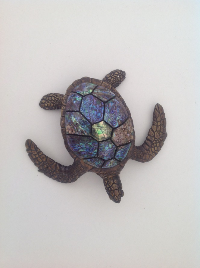 Sea Turtle Brass Turtle Box