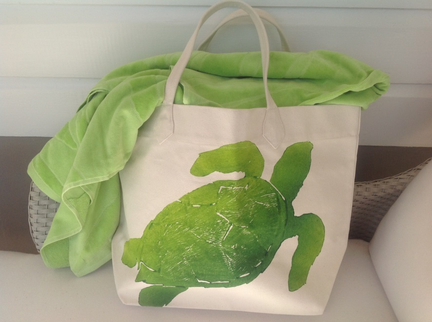 Sea Turtle Canvas Turtle Bags