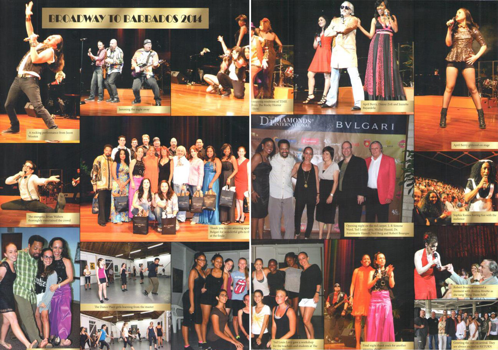 montage of last year's performance Broadway to Barbados 2014