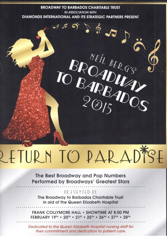 Front Cover of the Broadway to Barbados 2015 Programme