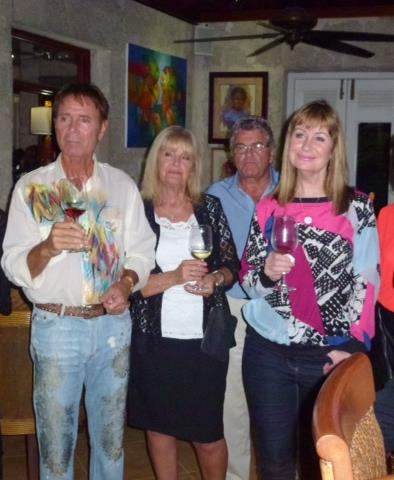 Broadway - Sir Cliff Richard, Cliff's sister Joan Pilgrim and partner, and BBC Weather Presenter Sian Lloyd