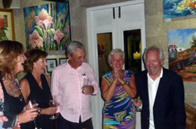 Broadway - Sue Thomas-Richardson, Friend and Clients Kathy Lemessurier, Brian Lemessurier, Barbara Carter and John Chandler