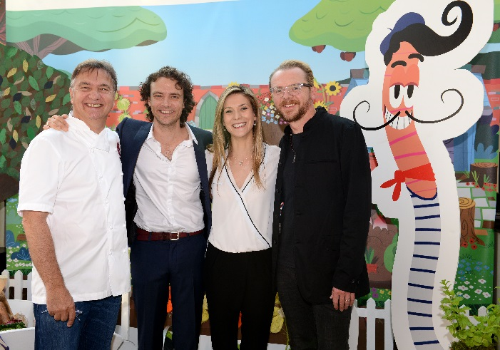 Hampton Court Flower Show: Raymond Blanc, Olivier Blanc, Charlotte Salt and Simon Pegg