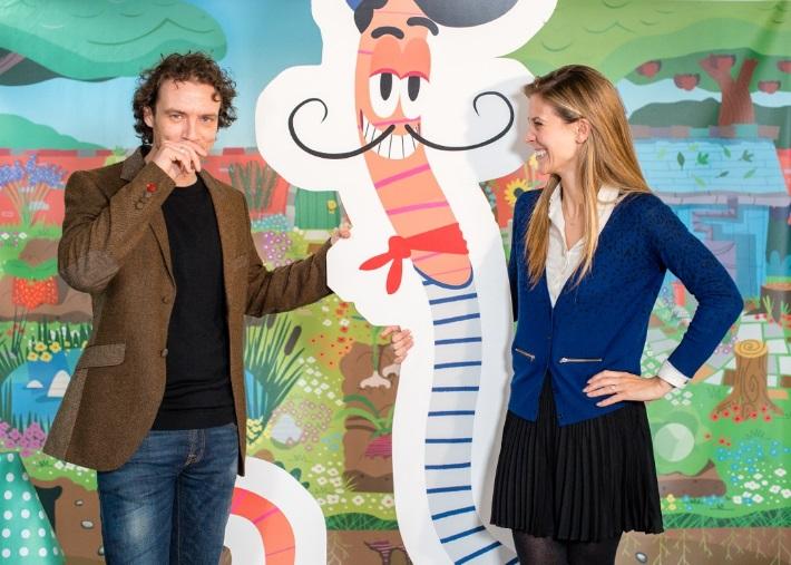 Henri le Worm Creators Olivier Blanc and Charlotte Salt
