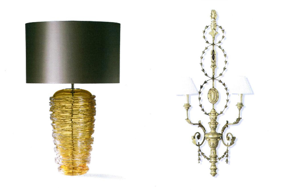 Precious Metals - Table and Wall Lamps