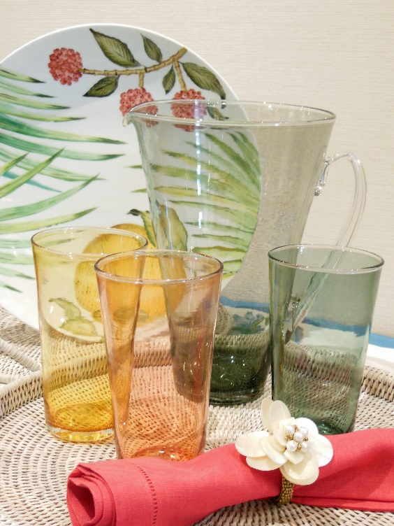 Glasses for all Occasions - Jenny Blanc exclusive coloured glass set and pitcher