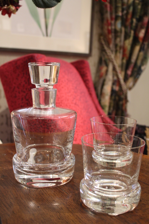 Glasses for all Occasions - Heavy- base decanter and tumblers