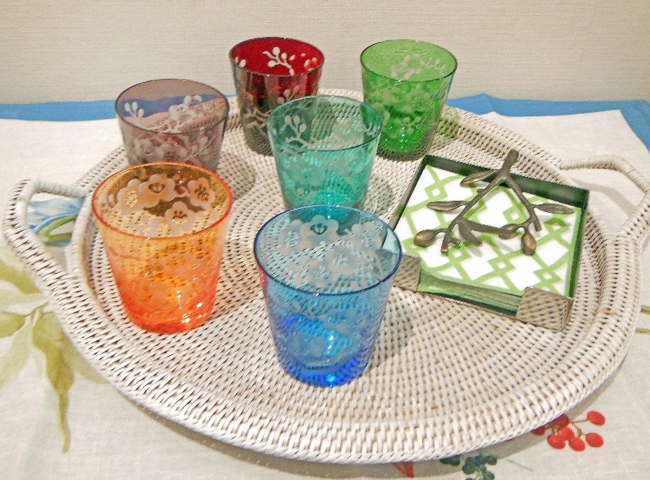 Glasses for all Occasions - Set of 6 engraved glasses in a variety of colours