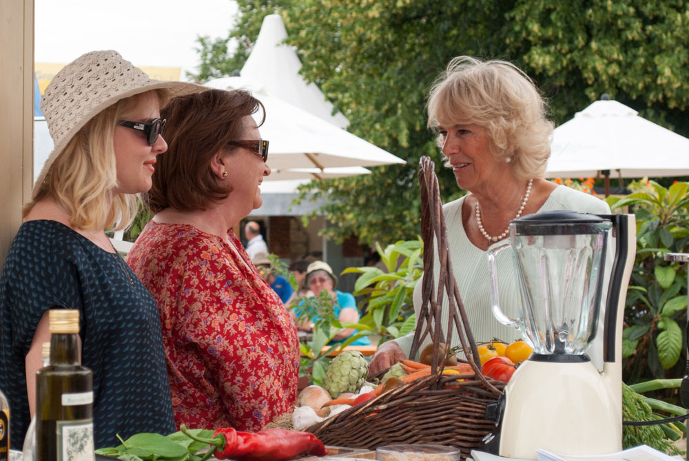 Royal Visit - The Duchess of Cornwall with Jenny Blanc & Florence Strickland