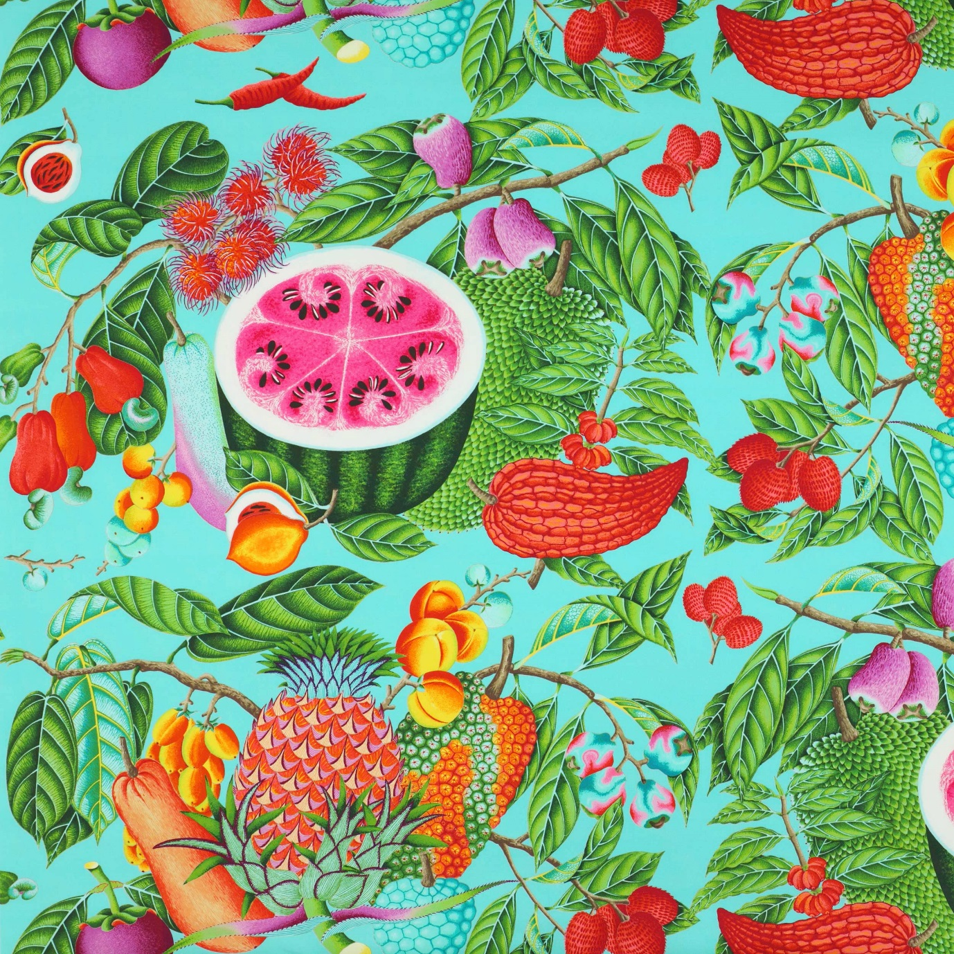 Jenny Blanc Blog - Jamaica Print Cotton Fabric
