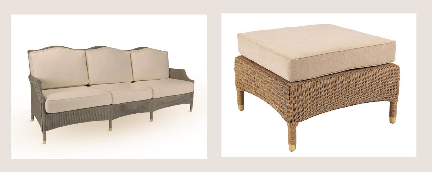 JKenny Blanc Blog - Wicker Sofa and Foot Stool