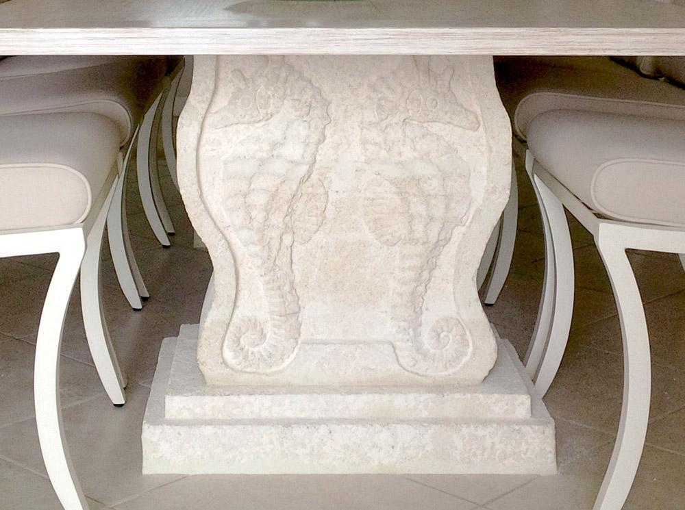 Jenny Blanc Blog - Coralstone Hand Carved Dining Table