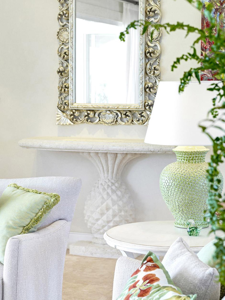 Jenny Blanc Blog - Coralstone Pineapple Console Table