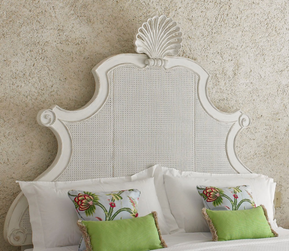 Jenny Blanc Blog - Picked Pine Carved Headboard