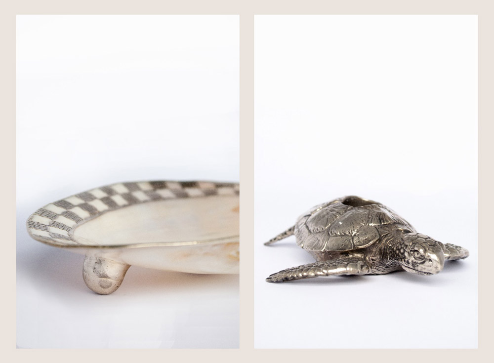 Jenny Blanc Blog - Shell Trinket Dish and Sea Turtle Candle Holder