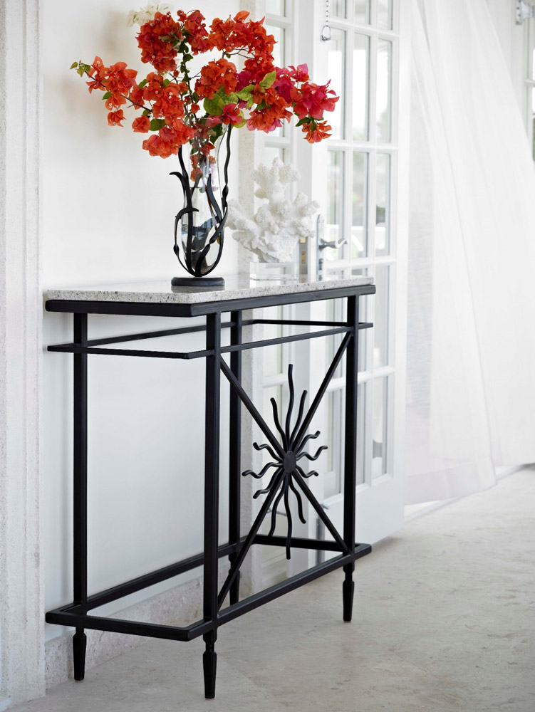 Jenny Blanc Blog - Wrought Iron Console Table
