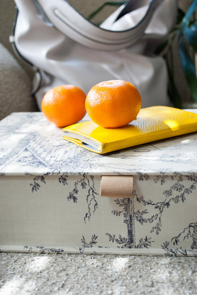 Jenny Blanc Blog - Colefax and Fowler Box File with Smythson Notebook