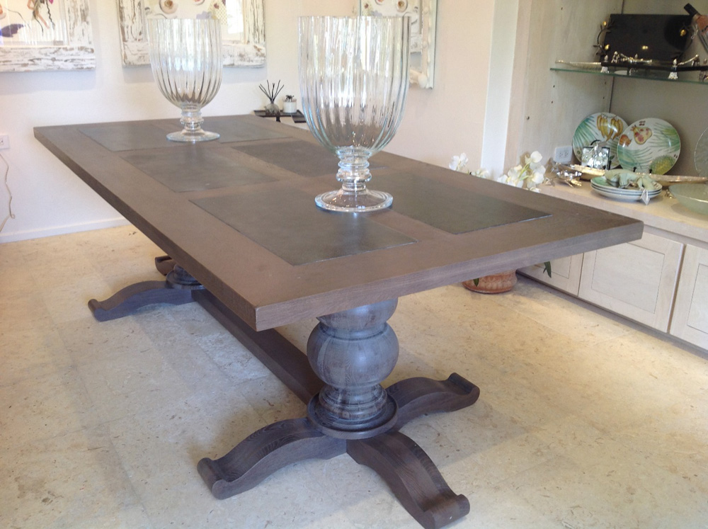 Jenny Blanc Blog - French Oak and Slate Dining Table