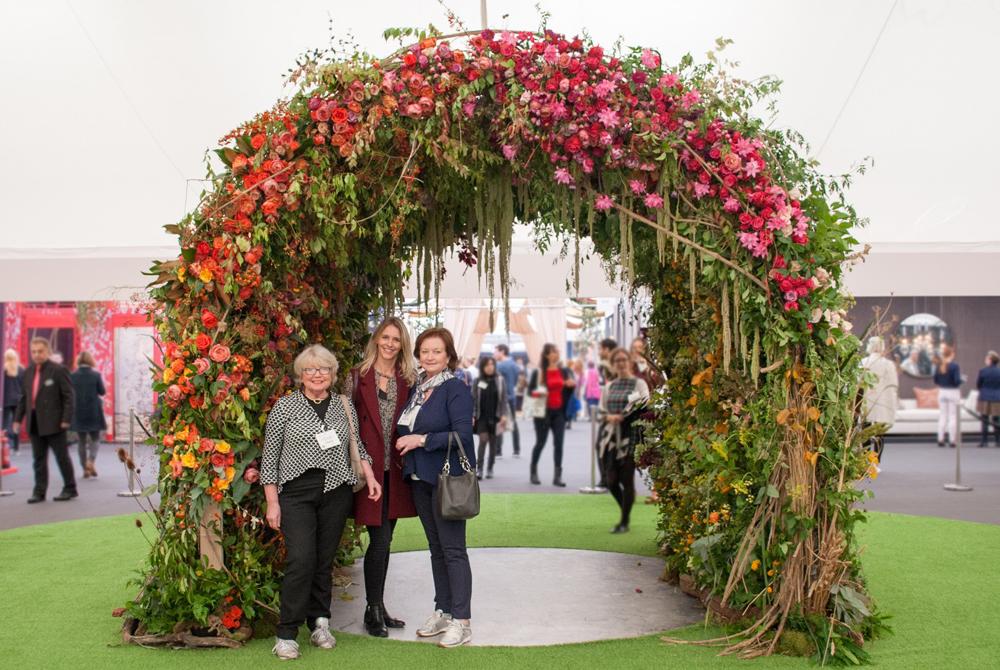 Jenny Blanc Blog - Decorex Floral Archway 2015