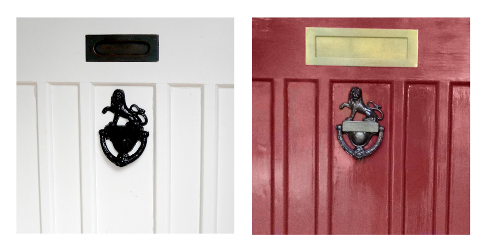 Jenny Blanc Blog - Antique Lion Door Knocker Before and After Picture