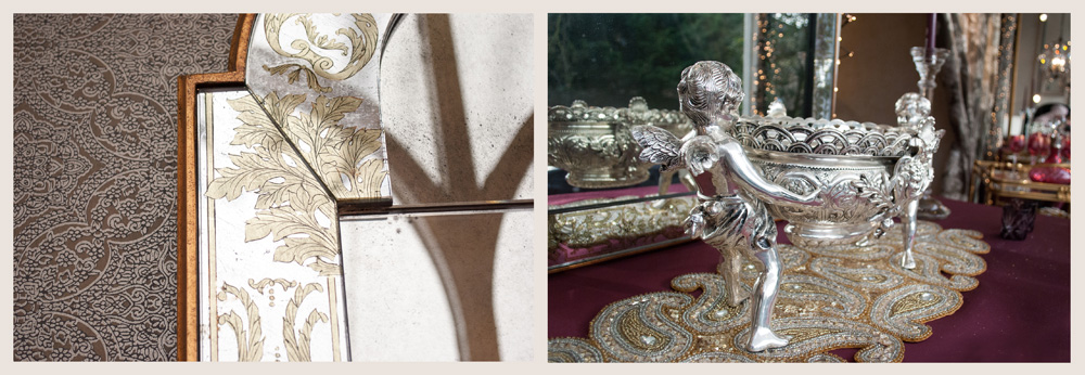Jenny Blanc Blog - Antique Mirror and Silver Cherubs with Urn
