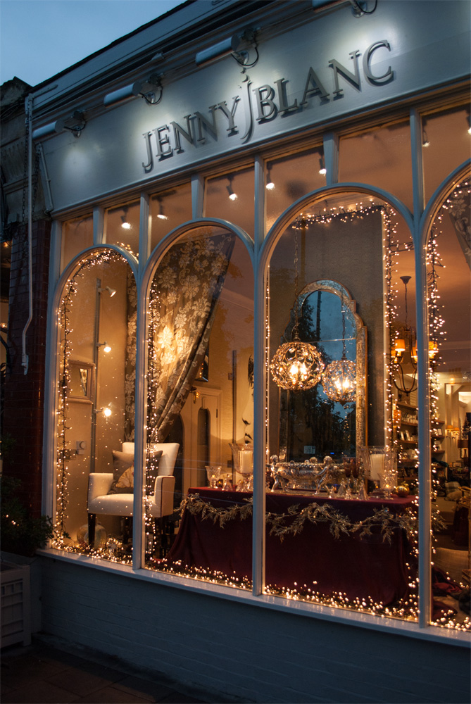 Jenny Blanc Blog - London Showroom Front Christmas Window 2015