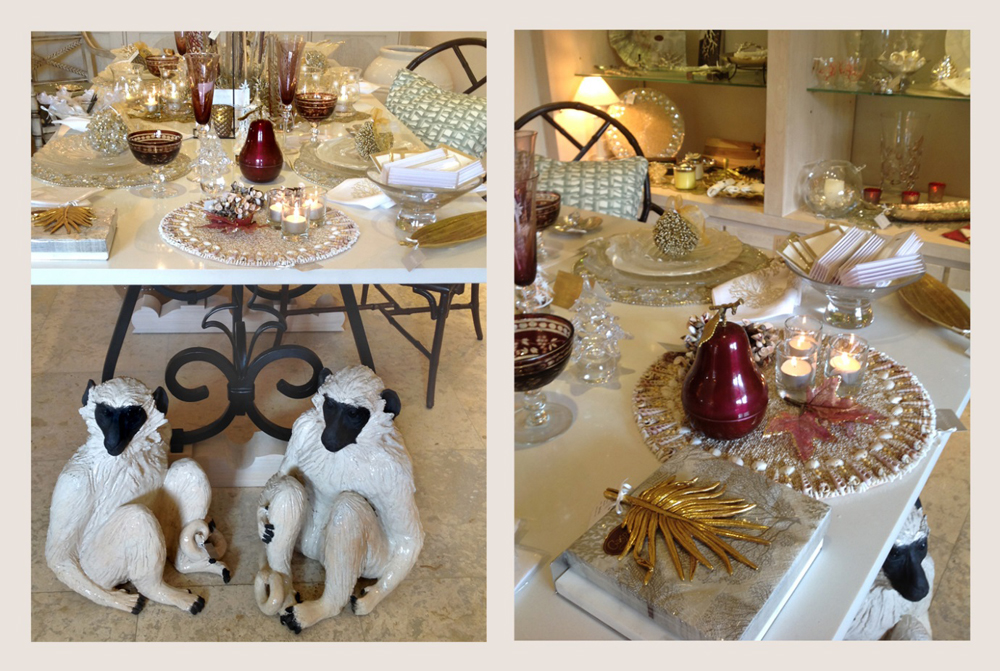 Jenny Blanc Blog - Barbados Green Monkey Sculptures and Burgandy Pear Scented Candle