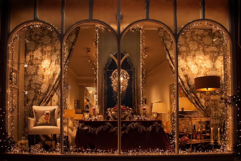Jenny Blanc Blog - Christmas Window at Jenny Blanc London Showroom