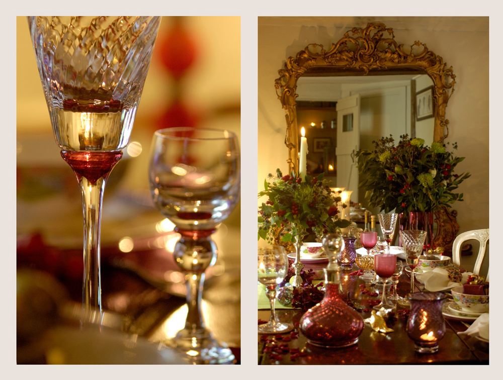 Jenny Blanc Blog - Cut Glass Stemware and Jennys Finished Christmas Table