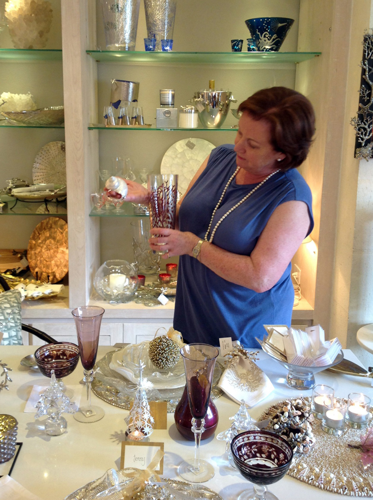 Jenny Blanc Blog - Jenny Chooses Glassware and Napkin Rings for Barbados Showroom