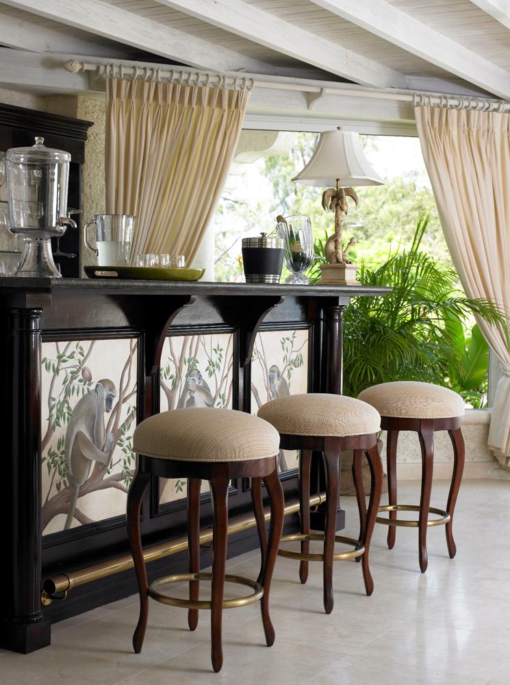 Jenny Blanc Blog - Bespoke Bar Made From Barbados Mahogany