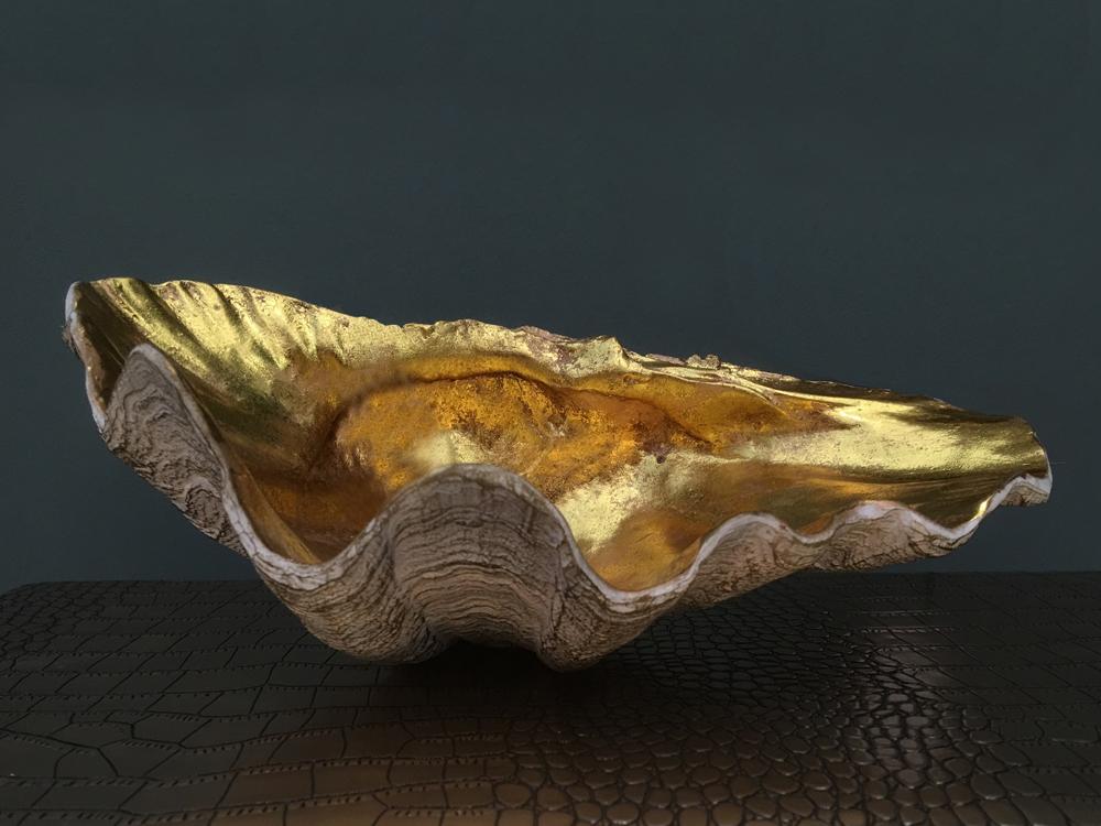 Jenny Blanc Blog - Gilded Clam Shell