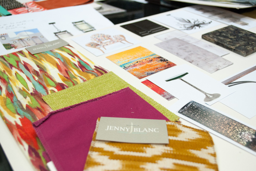 Jenny Blanc Blog - Colourful Work in Progress Scheme for Caribbean Entrance