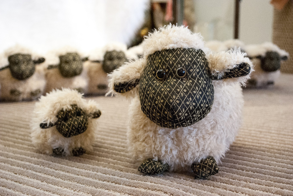 Jenny Blanc Blog - New Arrivals Flock of Sheep Draught Excluder Paperweight and Door Stop