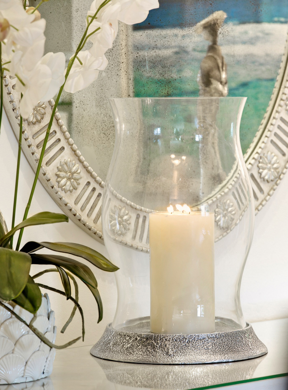 Jenny Blanc Blog - Glass Candle Holder with Candle