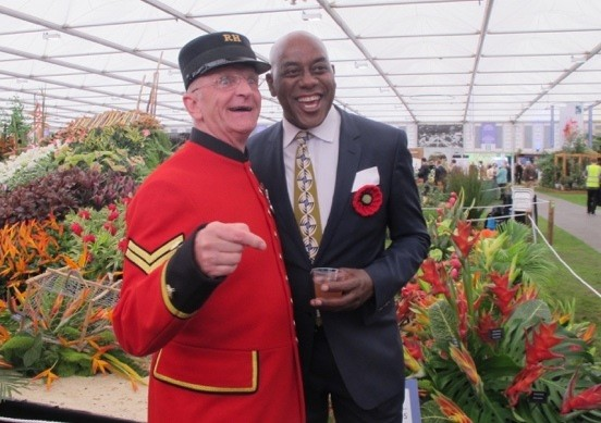 Jenny Blanc Blog - Ainsley Harriot Entertains Press and Visitors