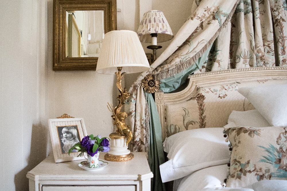 Jenny Blanc Blog - Teacup Flowers on Bedside Table