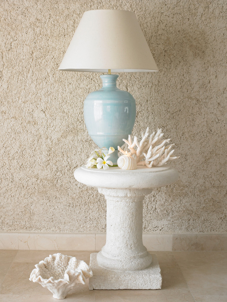 Jenny Blanc Blog - Coral Stone Classic Column Designed Side Table