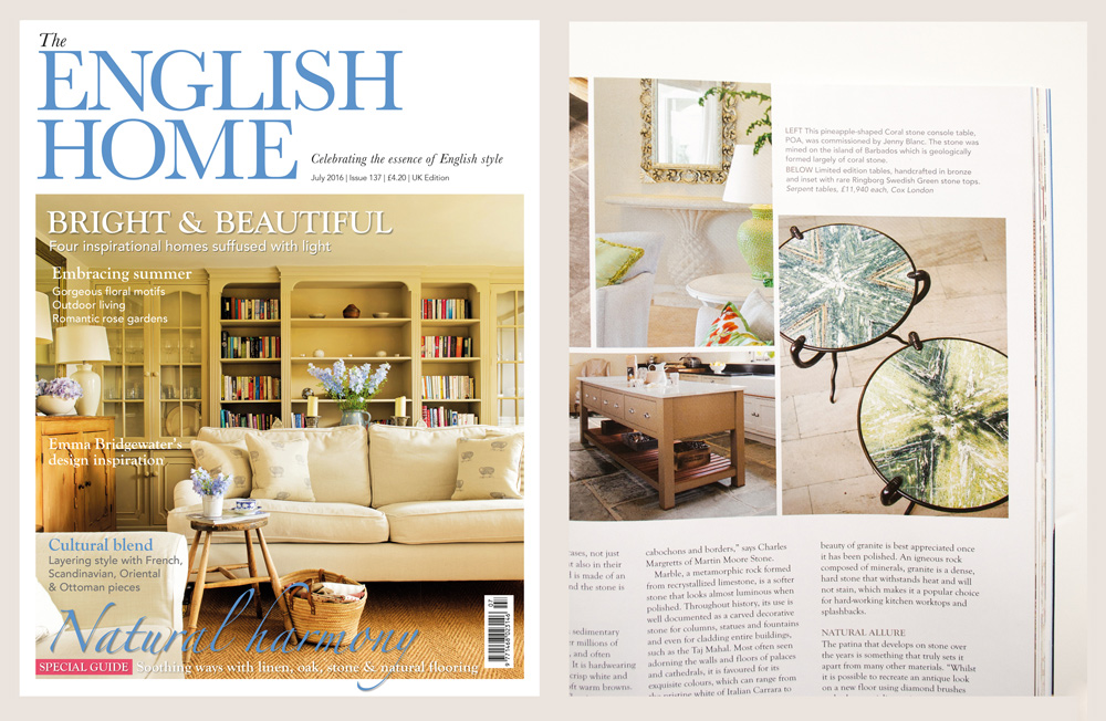 Jenny Blanc Blog - Featured in The English Home Magazine